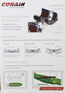 A detailed explanation of the RJ85 retardant delivery system.