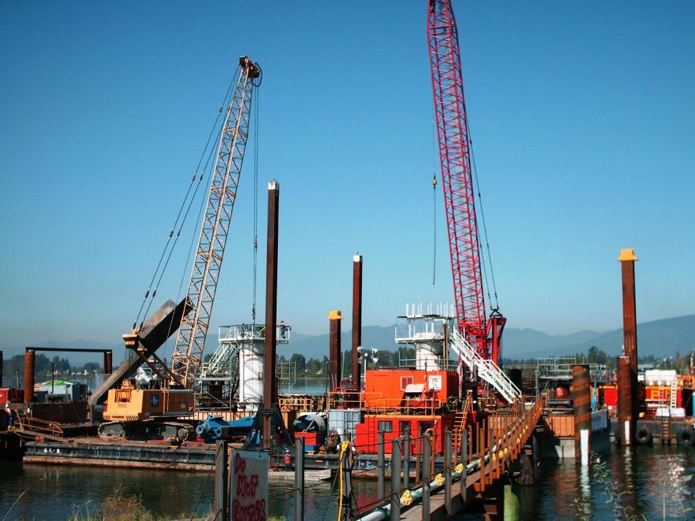 IUOE 115 Golden Ears Bridge dredging 2
